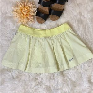 Nike Yellow Dri Fit Skort
